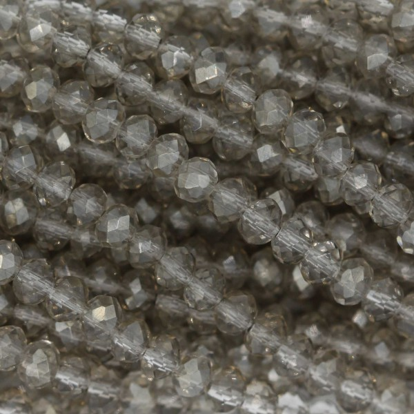 Rondelle in Cristallo Sfaccettato 3x2,5mm SILVER
