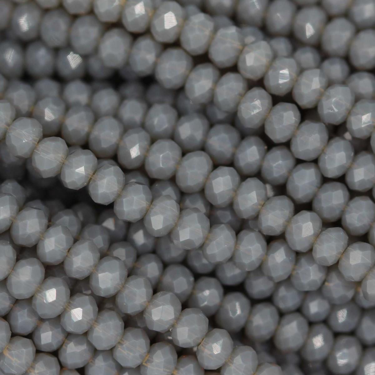 Rondelle in Cristallo Sfaccettato 3x2,5mm SMOKE OPAL
