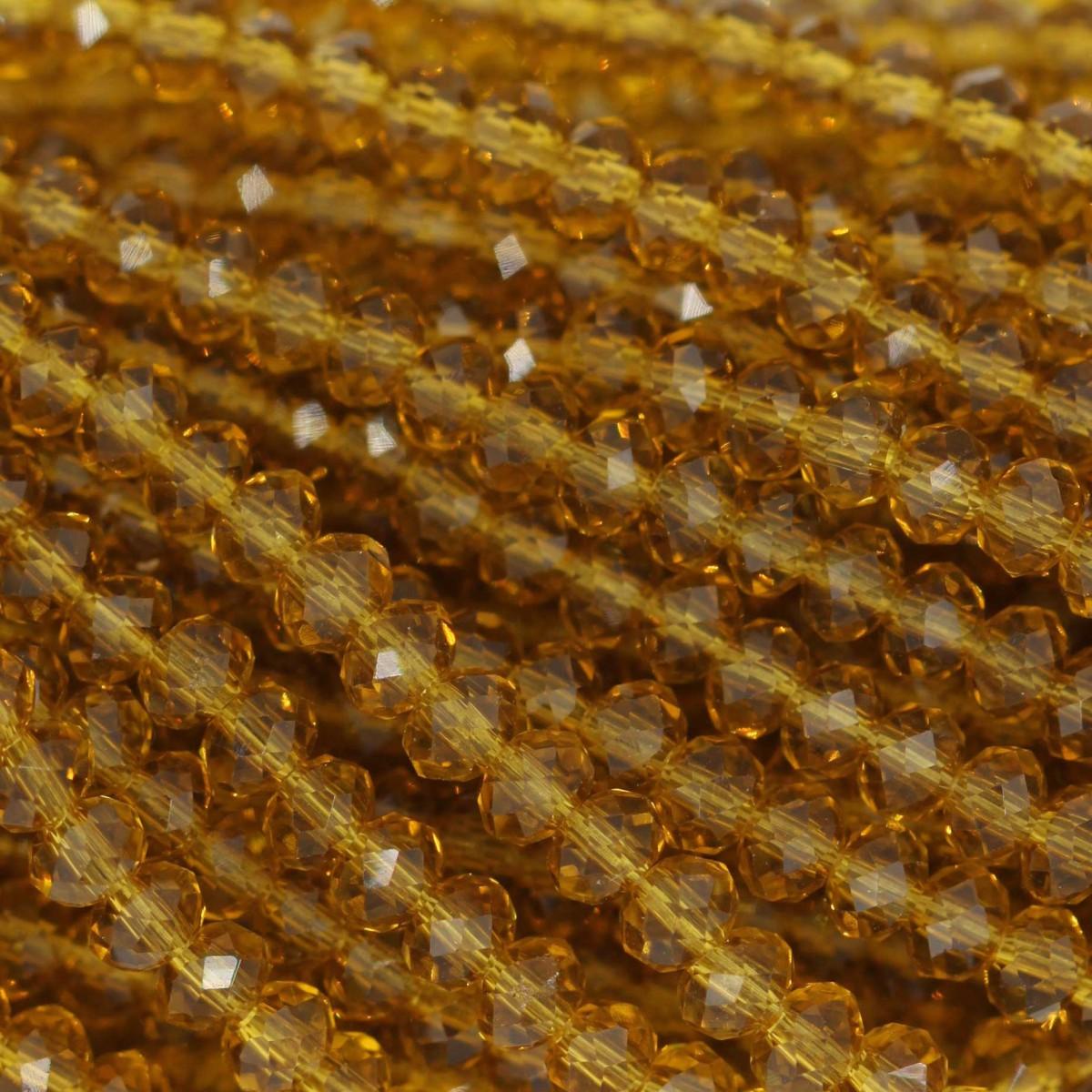 Rondelle in Cristallo Sfaccettato 3x2,5mm TOPAZ