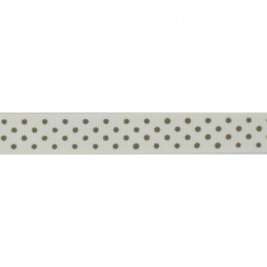 Grosgrain with dots 16mm - 23yards