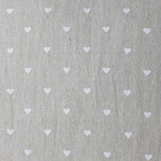 Printing Fabric White Heart 100x150cm