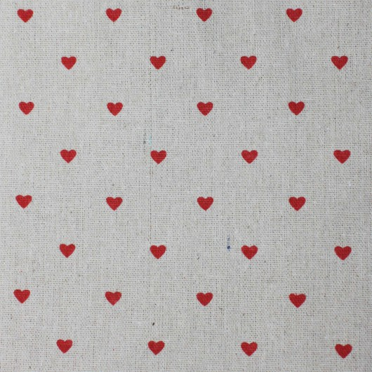 Printing Fabric Red Heart 100x150cm