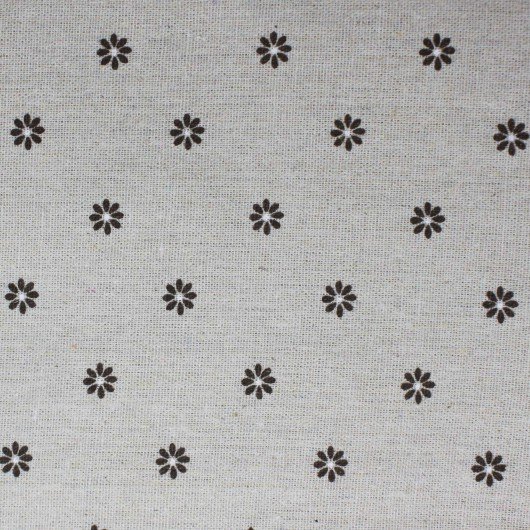 Printing Fabric Brown Flowers 100x150cm