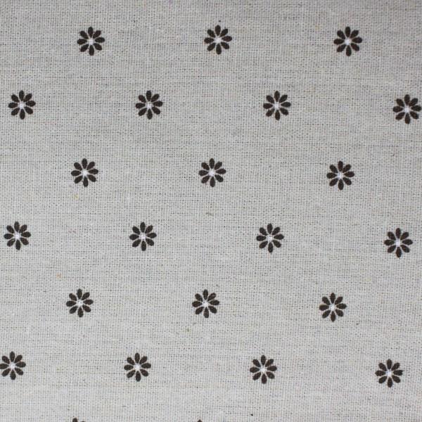 Printing Fabric Brown Flowers 100x150cm