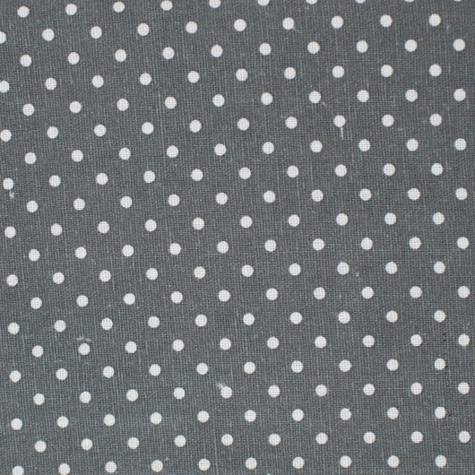Printing Fabric Grey with pois 100x150cm