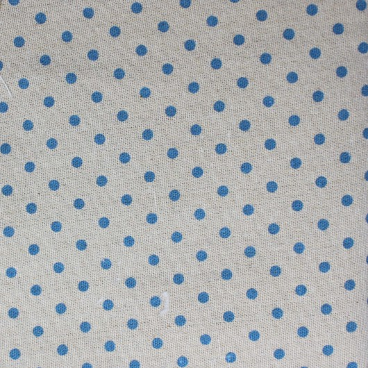 Printing Fabric with light blue pois 100x150cm