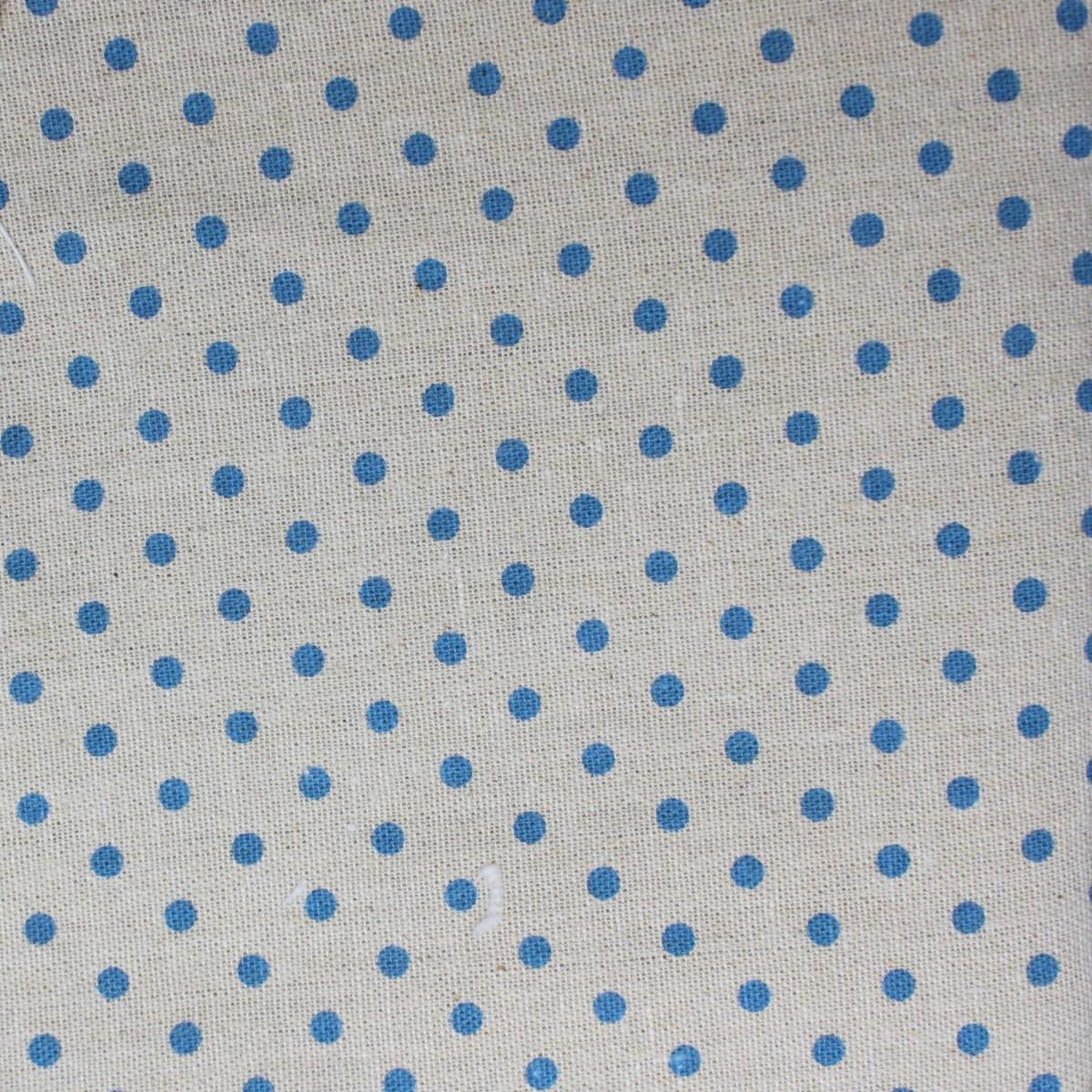 Printing Fabric with light blue pois 100x150cm