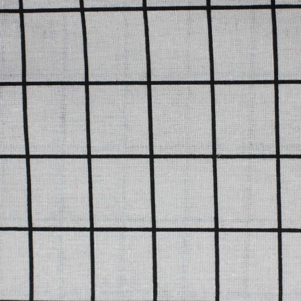 Stoffa Stampata Quadroni neri 100x150cm