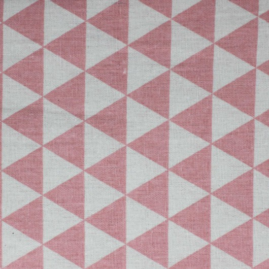 Printing Fabric Pink Triangle 100x150cm