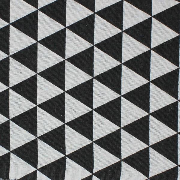 Stoffa Stampata Triangoli Neri 100x150cm