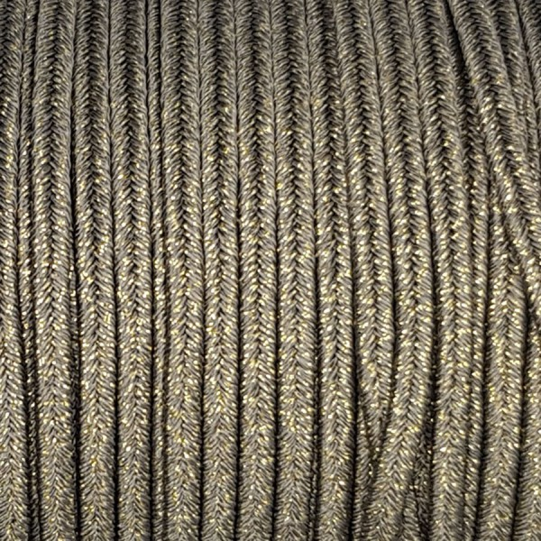 Soutache Metal MILITARY GREEN mm 4,0 x 3mt