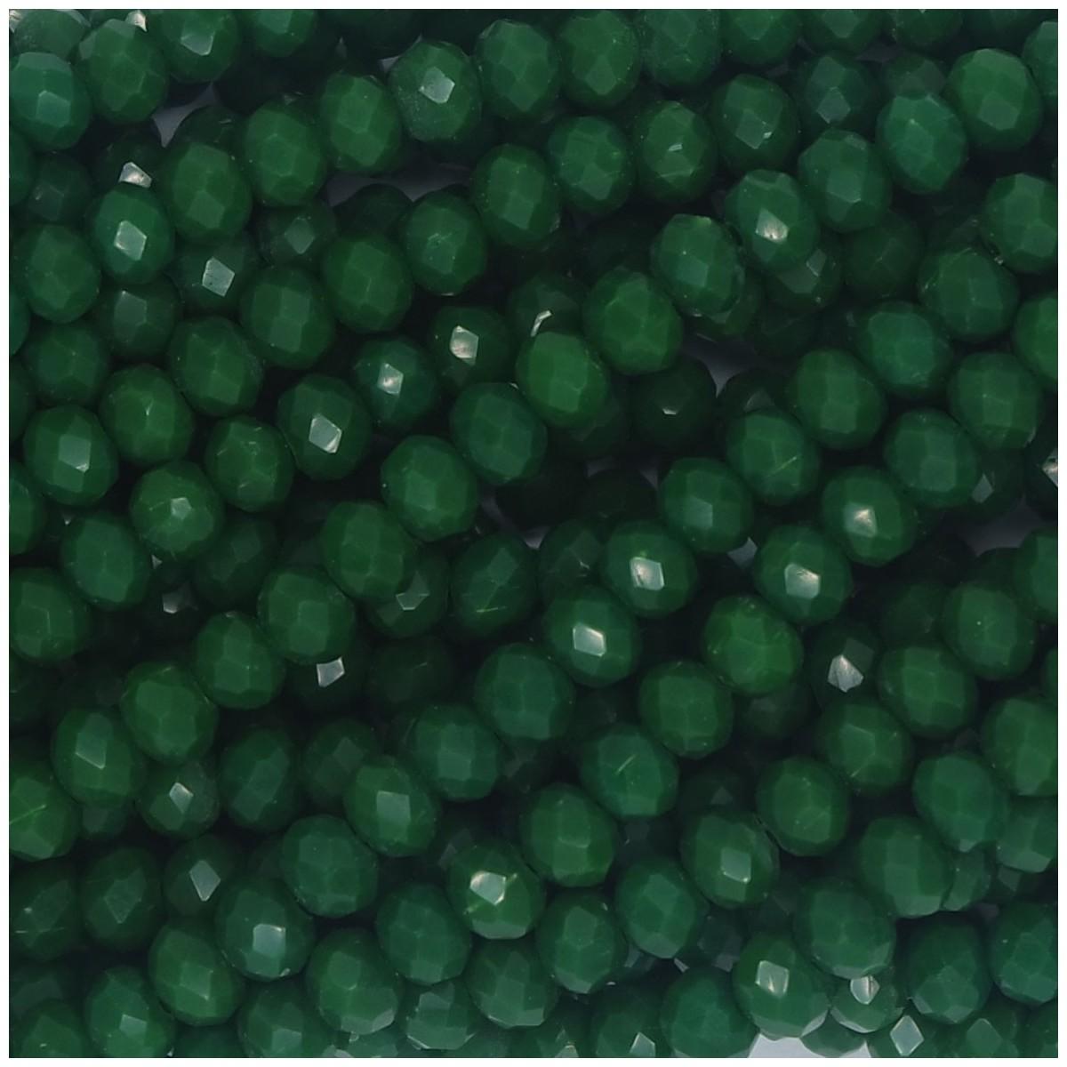 Rondelle in Cristallo Sfaccettato 4x3mm FERN GREEN
