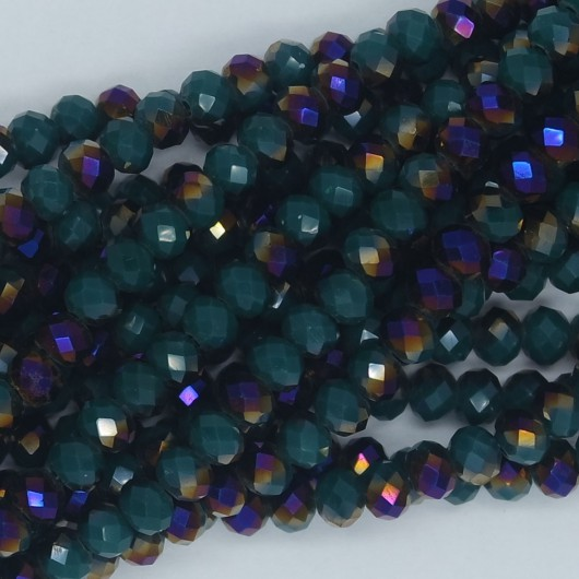 Rondelle in Cristallo Sfaccettato 4x3mm PURPLE GREEN