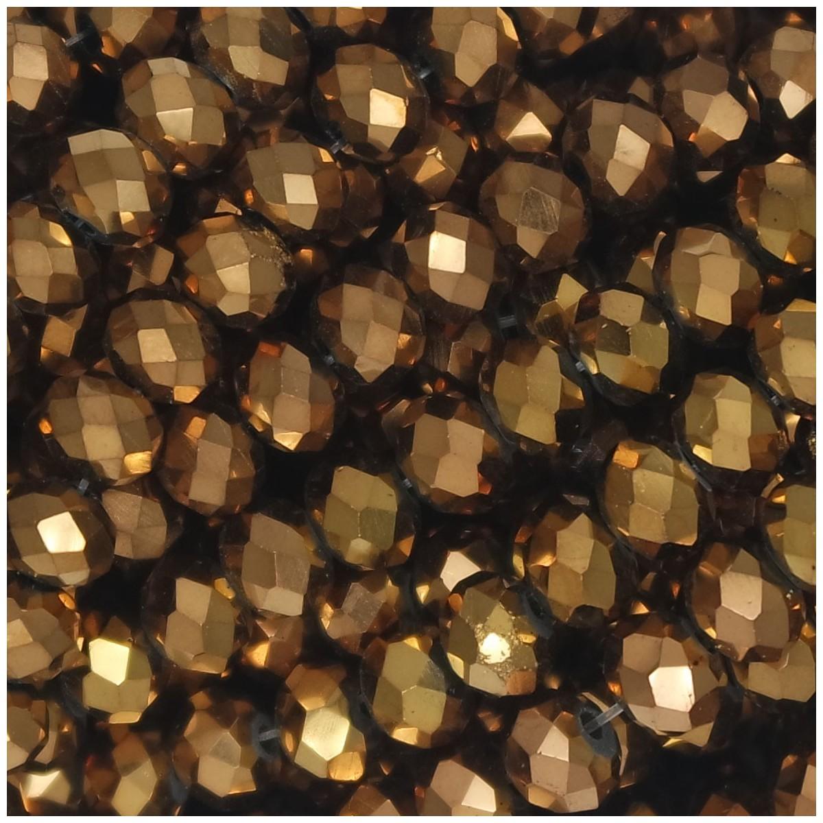 Rondelle in Cristallo Sfaccettato 6x4mm DARK GOLD