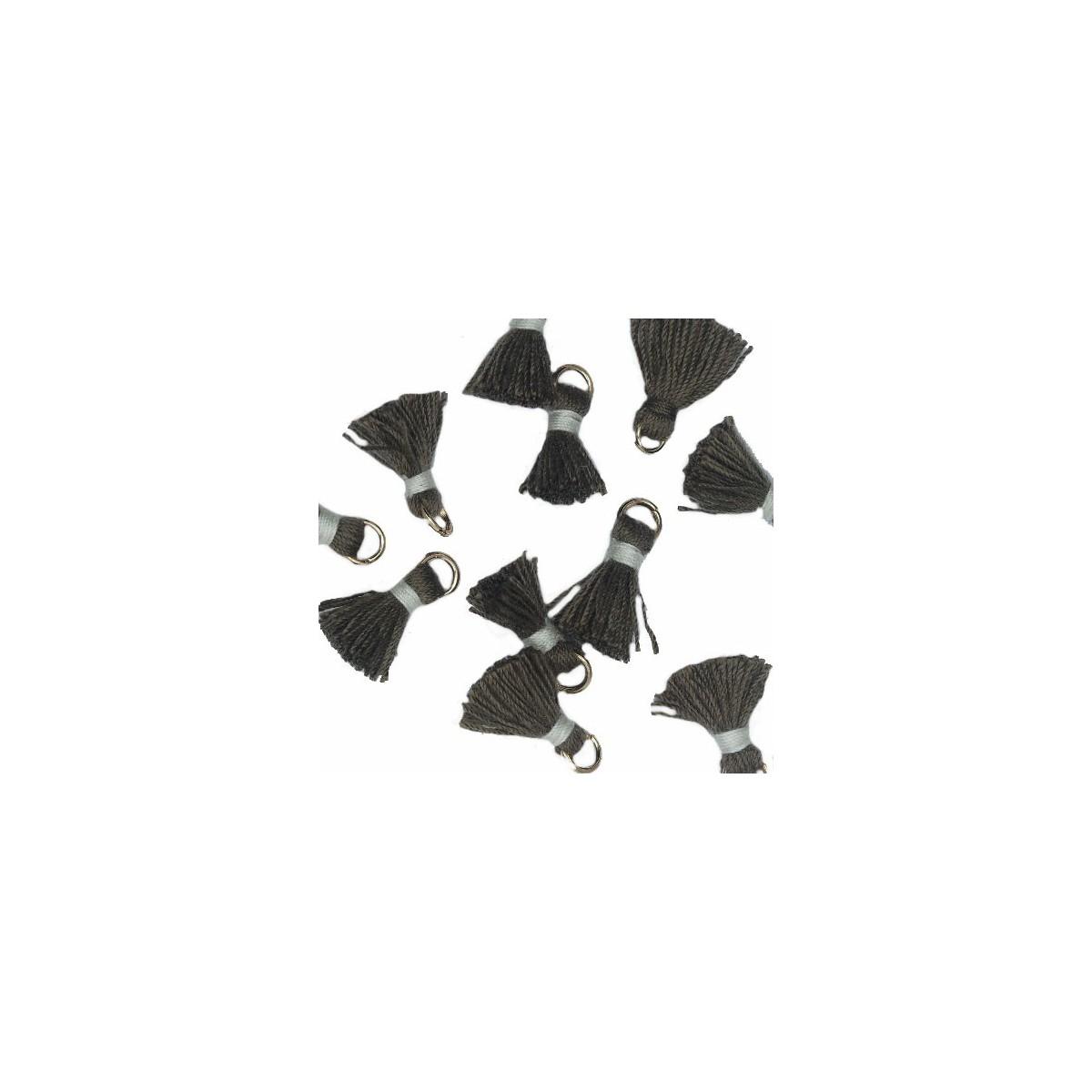 Nappina grigio scuro e bianco 18 mm White 5pz