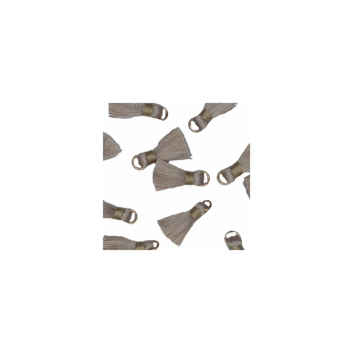 Nappina grigio seta 18 mm White 5pz