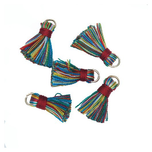 Mini Tassel with ring 18mm Mix Color