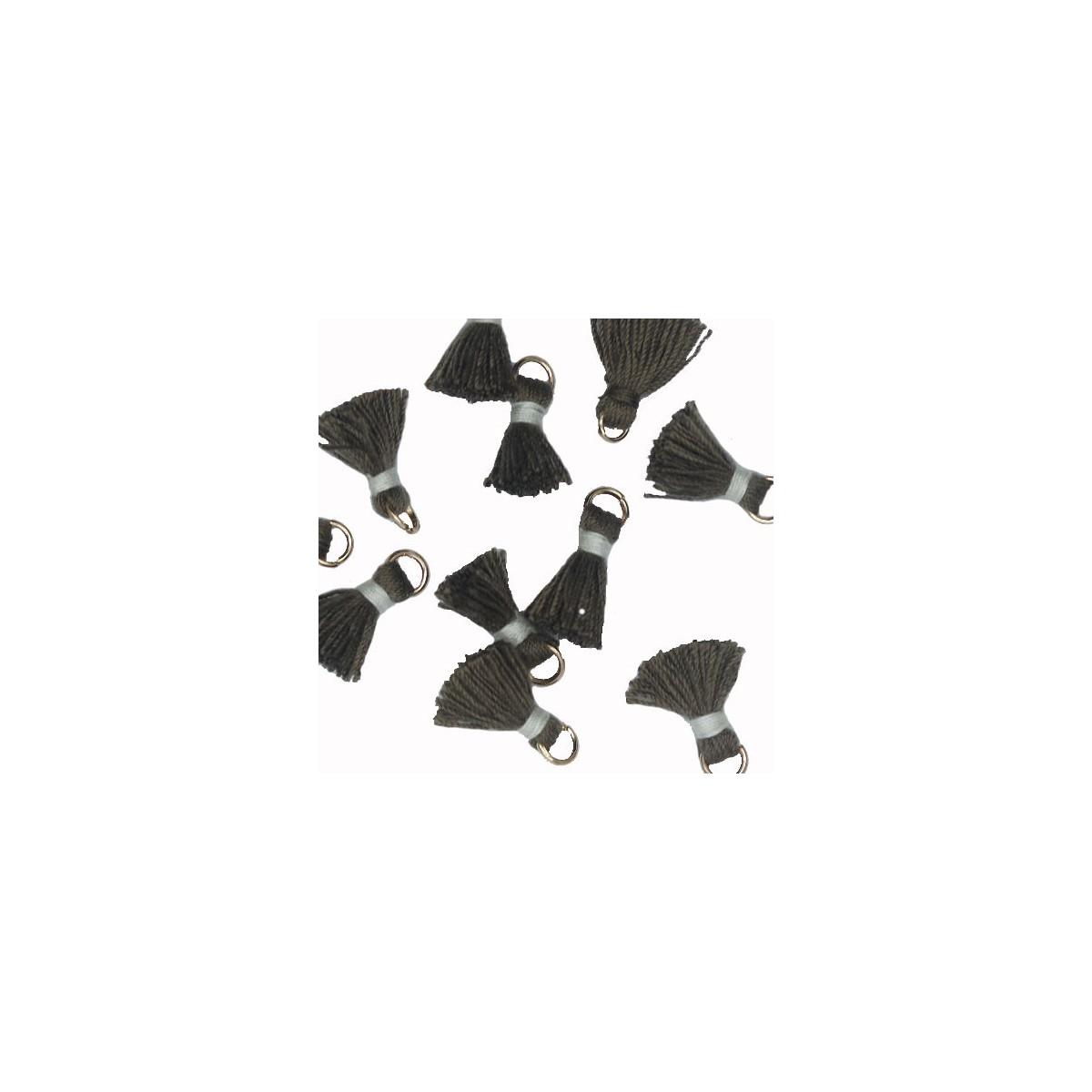 Nappina nero e grigio 18 mm 5pz