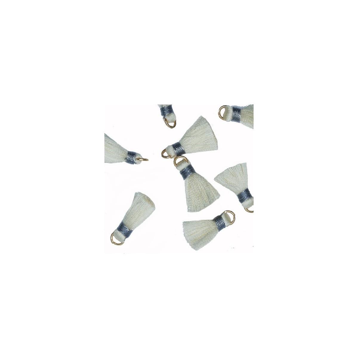 Nappina panna e grigio 18 mm 5pz