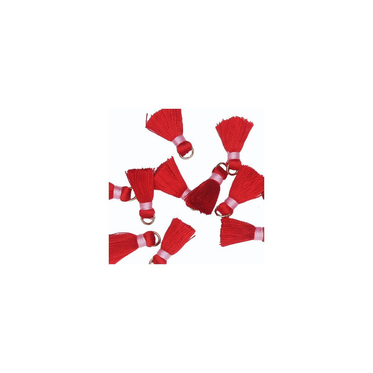 Nappina rosso e rosa 18 mm 5pz