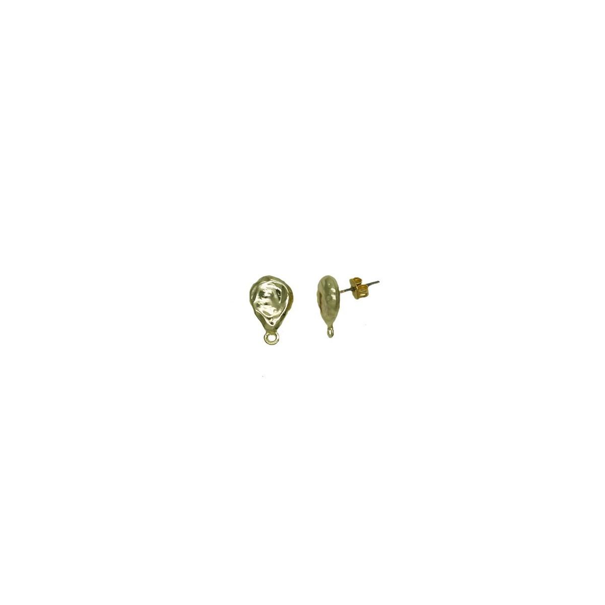 Orecchini in ottone a goccia colore oro 15x10 mm