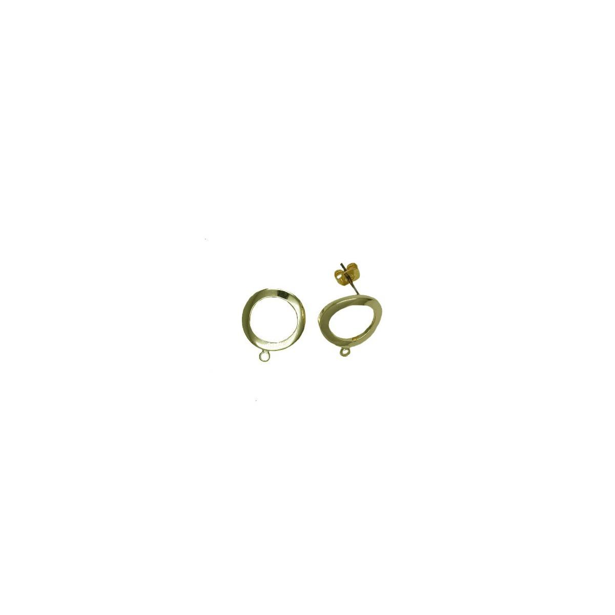 Orecchini in ottone a cerchio vuoto  - 14 mm