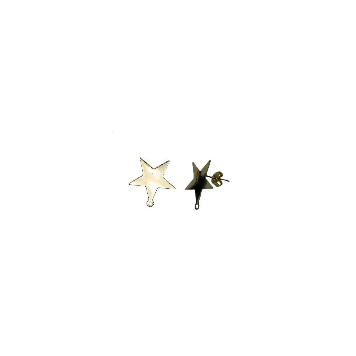 Orecchini in ottone a stella  - 17 mm
