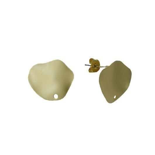 Orecchini in Ottone Satinati Irregolari - 20 mm