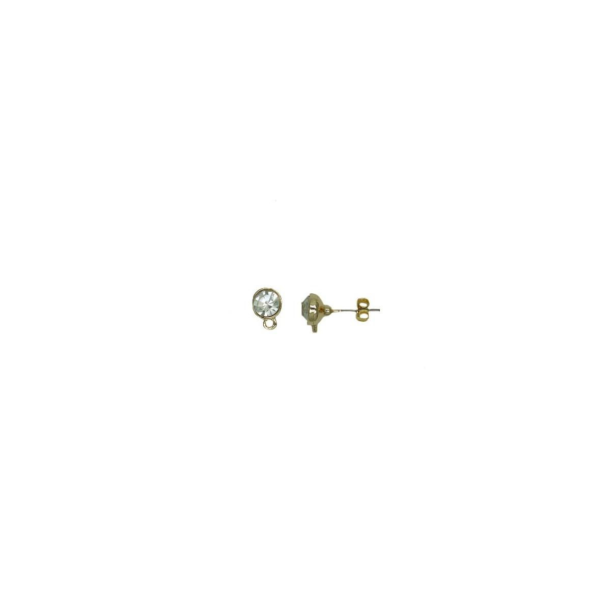 Orecchini in Ottone Strass - 6x6 mm