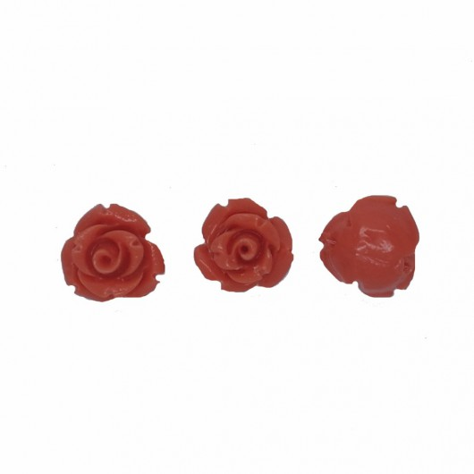 PINK CORAL RESIN ROSE - 4 pieces