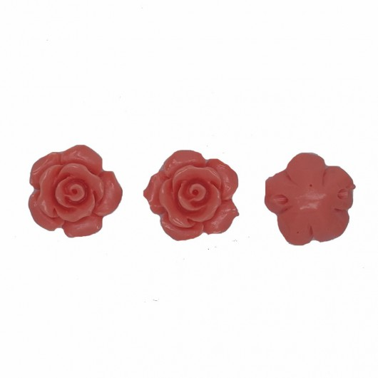 CORAL RESIN ROSE - 4 pieces