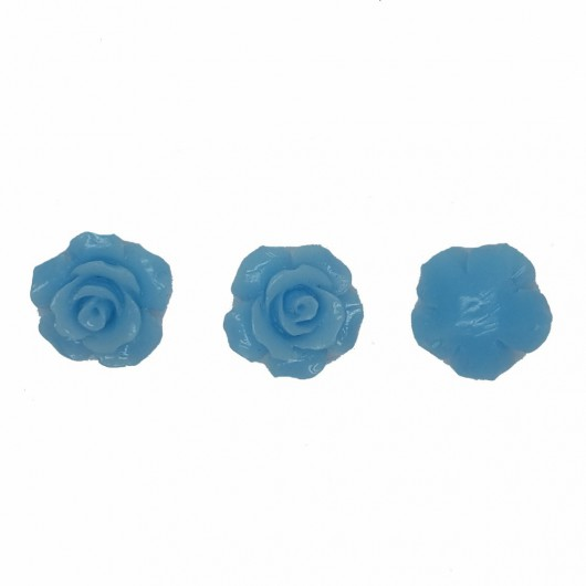 GOLD RESIN ROSE - 3 pieces