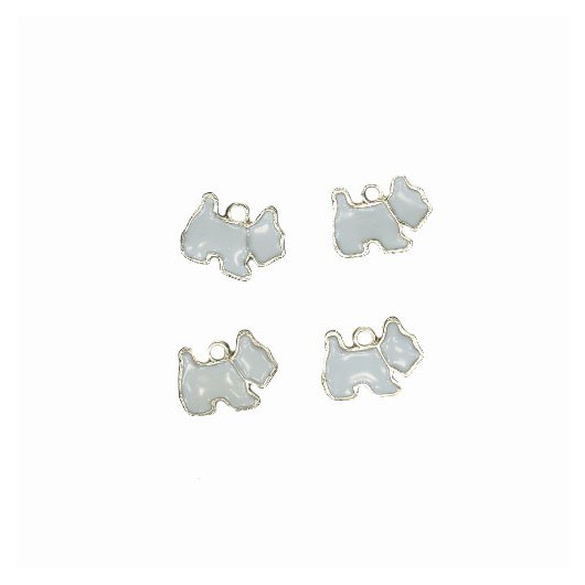 Charms Little Dog 15 mm - 4 pieces