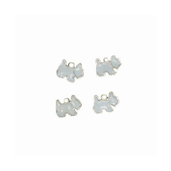 Charms Cagnolino Bianco 15 mm - 4 pezzi