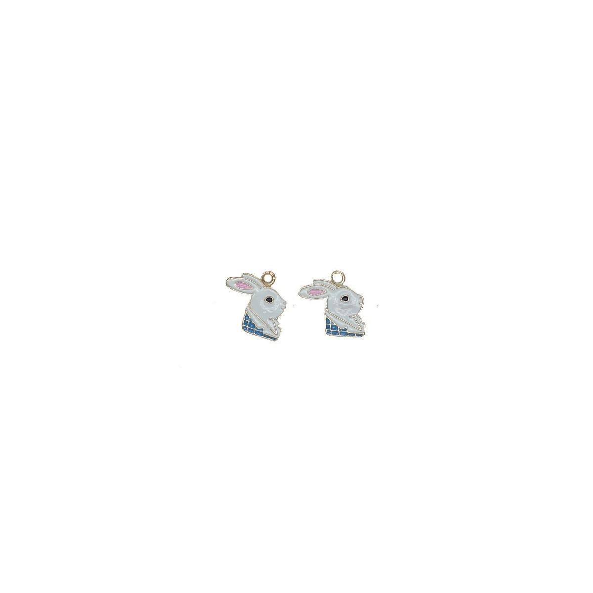 Charms Bianconiglio  mm 18 - 2 pezzi