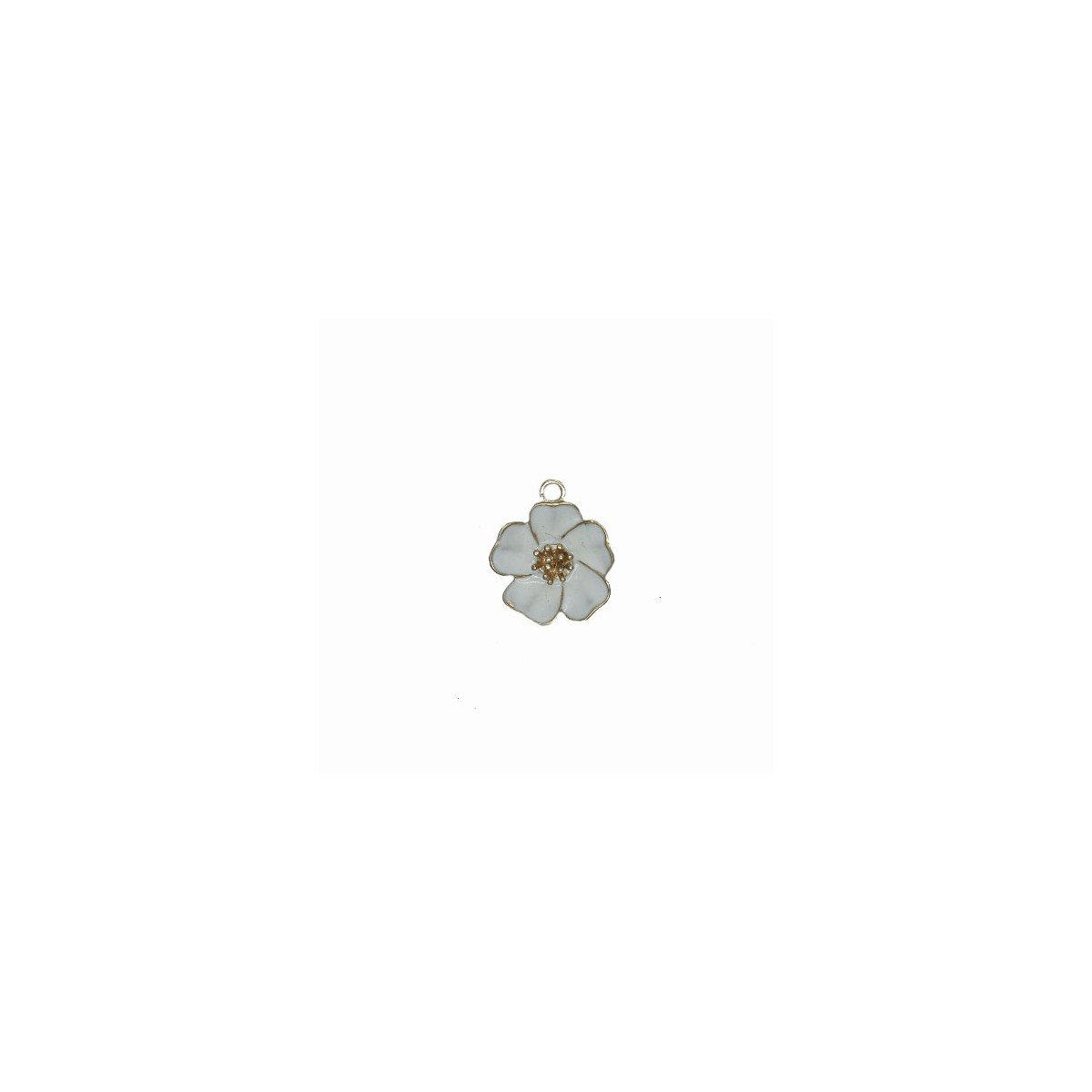 Charms Fiore Bianco 25 mm - 1 pezzi