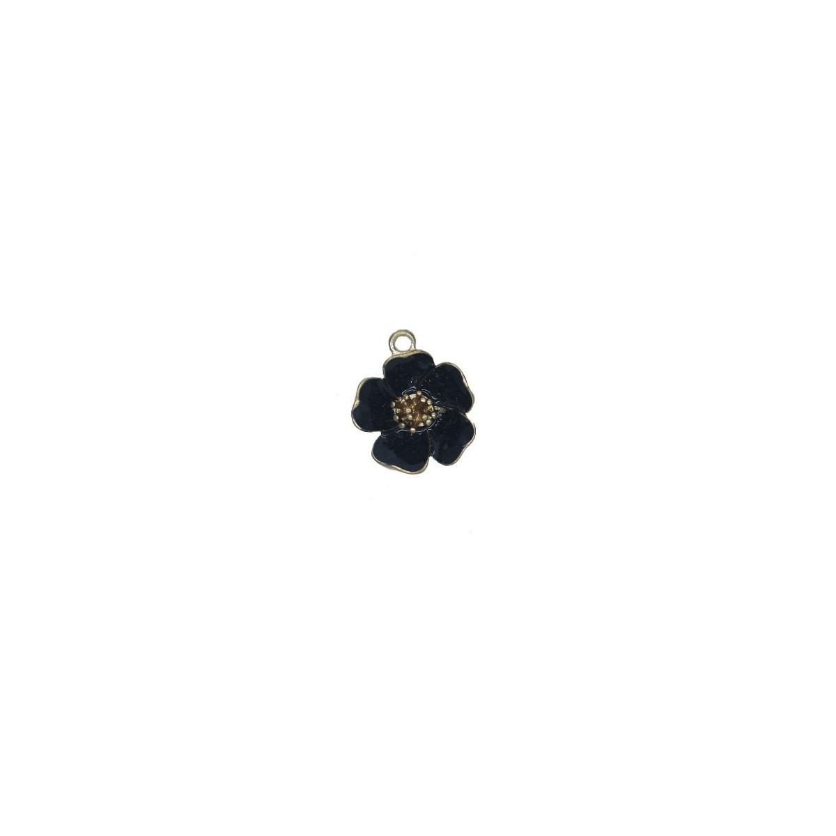 Charms Fiore Nero 25 mm - 1 pezzi