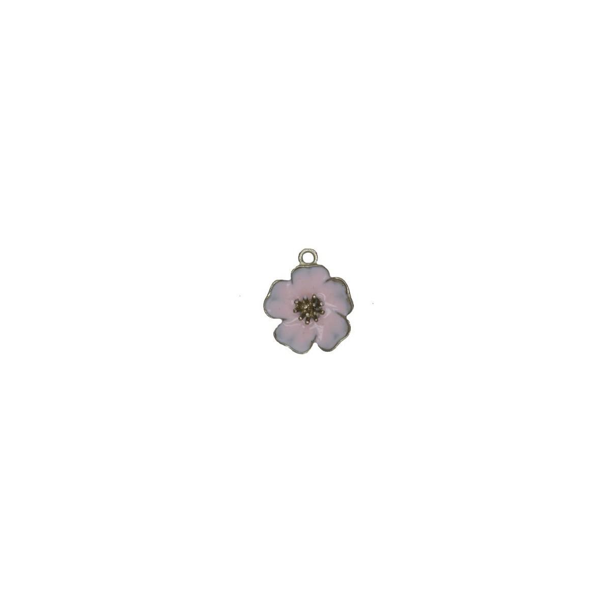 Charms Fiore Rosa 25 mm - 1 pezzi