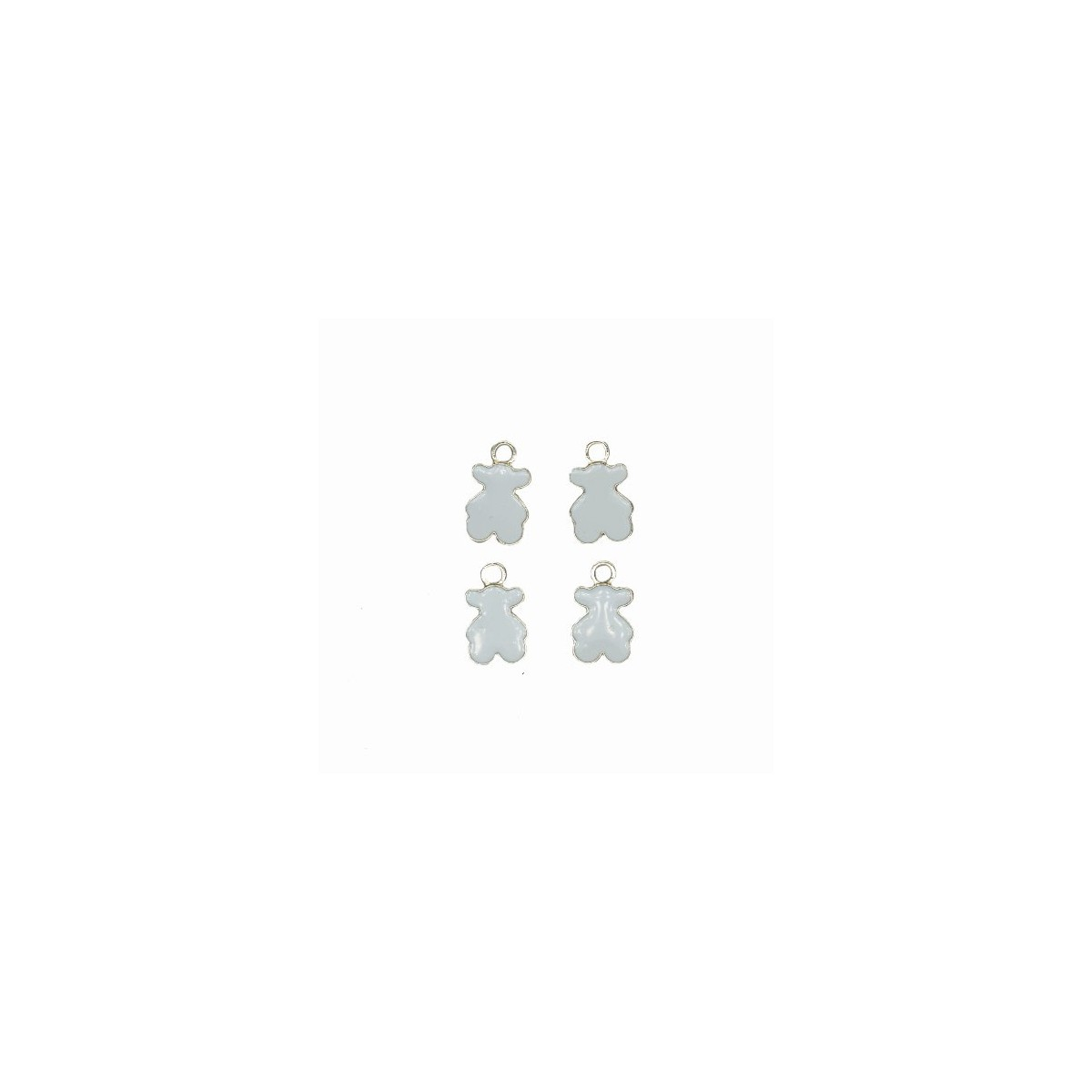 Charms Orsetto Bianco 15 mm - 4 pezzi
