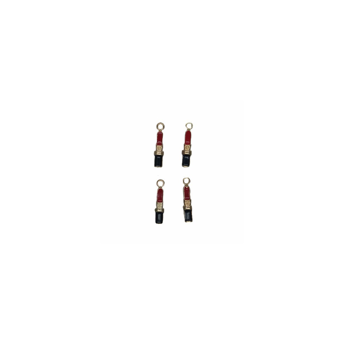 Charms Rossetto 15 mm - 4 pezzi