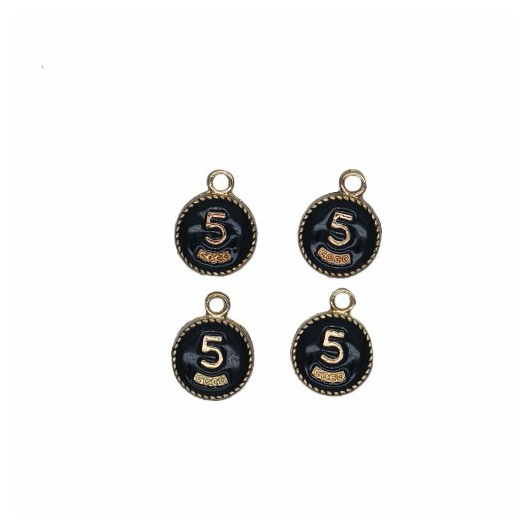 Charms Round n°5 12 mm - 4 pieces