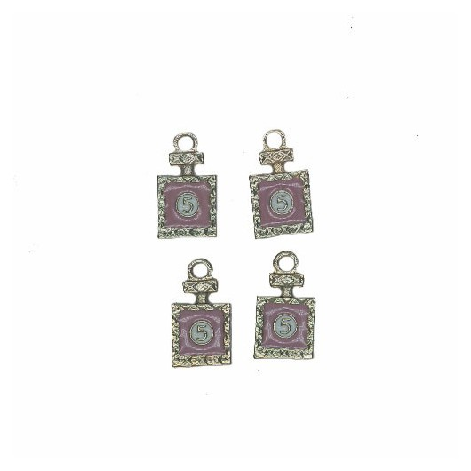 Charms Pink Perfume 15 mm - 4 pieces