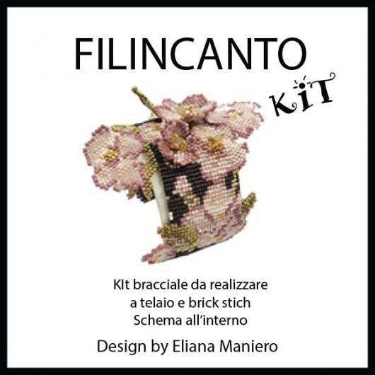 "Kit + Tutorial BRACCIALE A TELAIO E BRICK STITCH ""3D"""