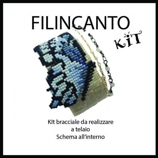 """Kit + Tutorial BRACCIALE A TELAIO e BRICK STITCH """"FARFALLA"""""""
