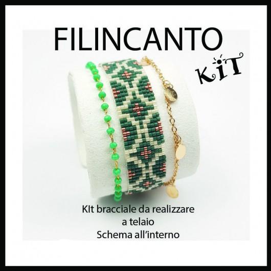 "Kit + Schema BRACCIALE A TELAIO ""TEAL"""