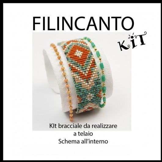 "Kit + schema BRACCIALE A TELAIO ""GITANO"""