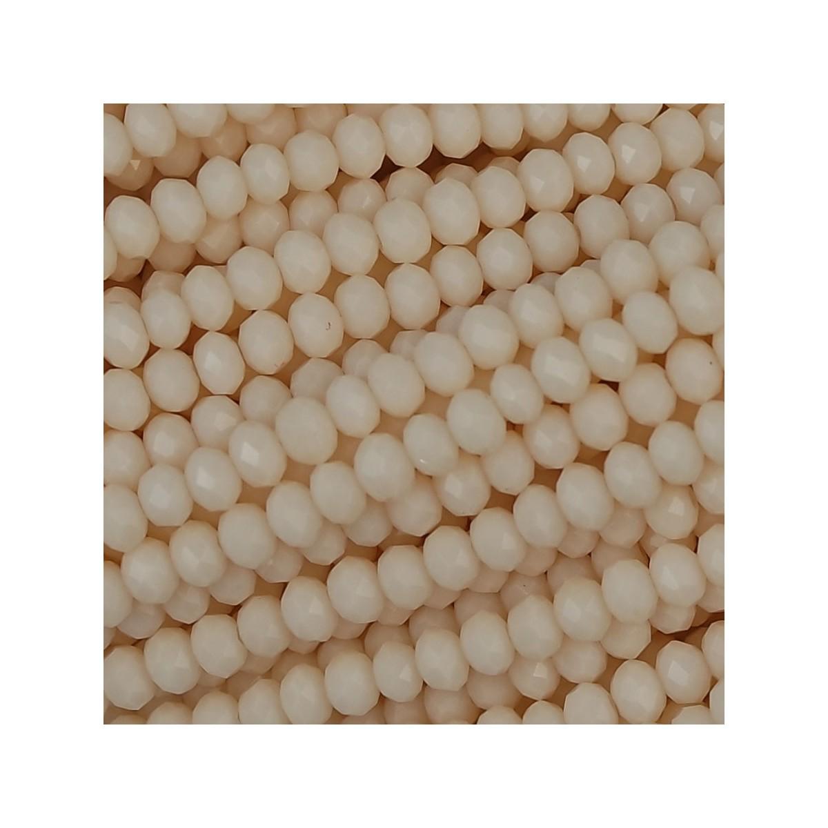 Rondelle in Cristallo Sfaccettato 3x2,5mm rose alabaster ab