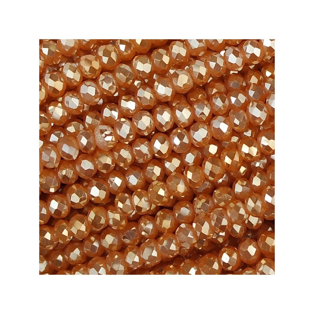 Rondelle in Cristallo Sfaccettato 3x2,5mm albicocca