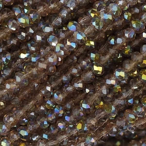 Rondelle in Cristallo Sfaccettato 3x2,5mm bionda ab
