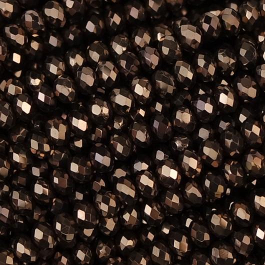 Rondelle in Cristallo Sfaccettato 3x2,5mm bronze ab2x